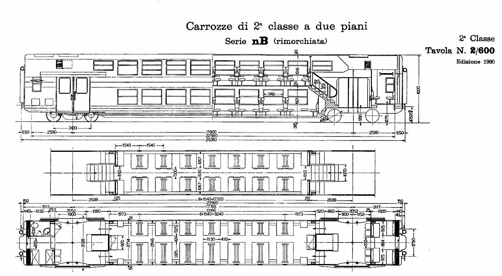 Carrozze serie nb for Piano di costruzione a due piani